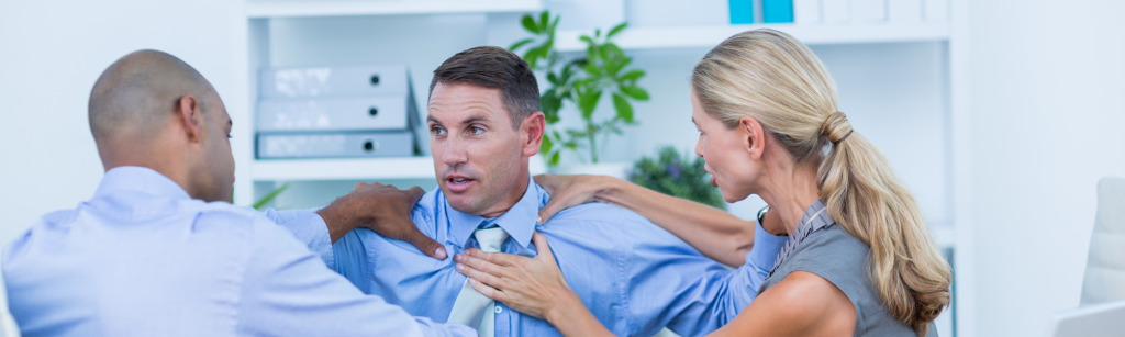 People managing workplace conflict