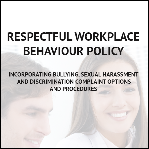 respectful workplace behaviour policy template